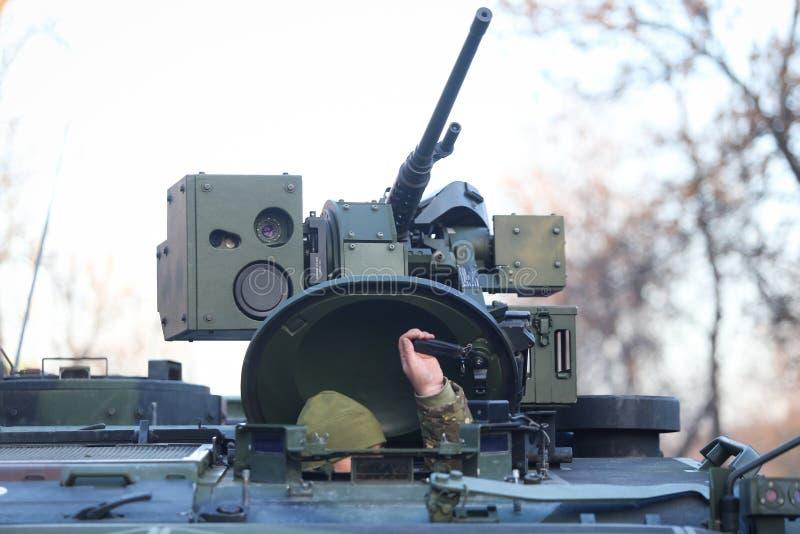 Veículo antiaéreo, igualmente conhecido como um anti-aircr automotor foto de stock royalty free