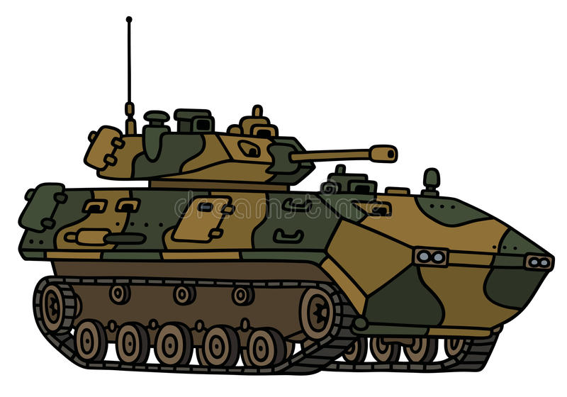 Veículo blindado da trilha da camuflagem ilustração do vetor