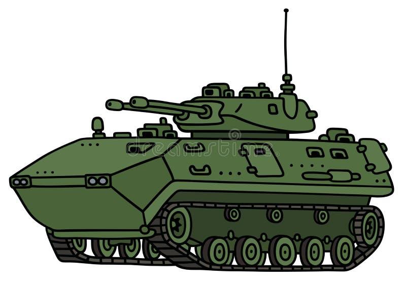 Veículo blindado da trilha verde ilustração stock