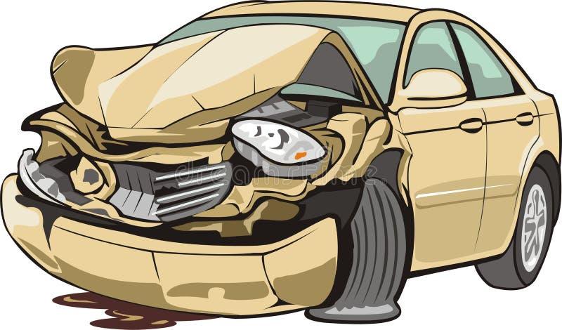 Veículo causado um crash ilustração stock