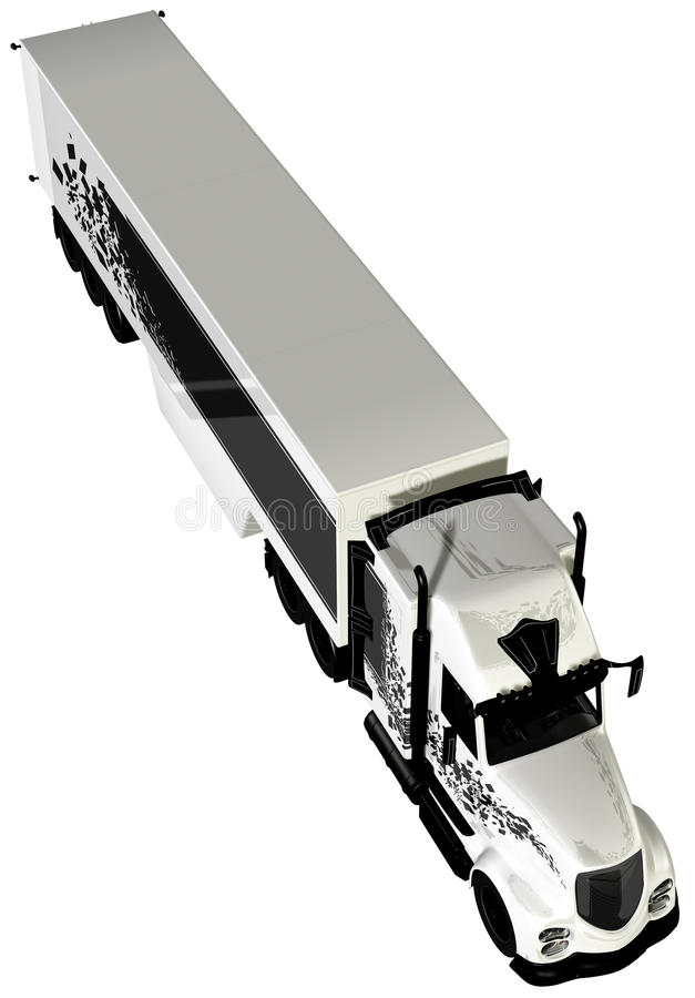 Veículo com rodas do táxi 18 do reboque de trator noun ilustração stock