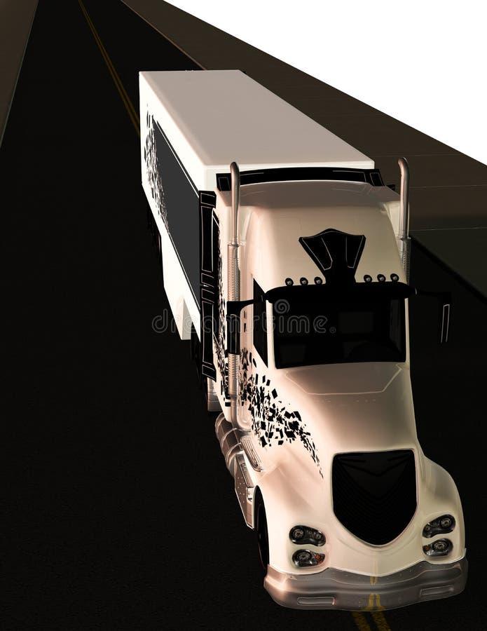Veículo com rodas do táxi 18 do reboque de trator noun ilustração do vetor