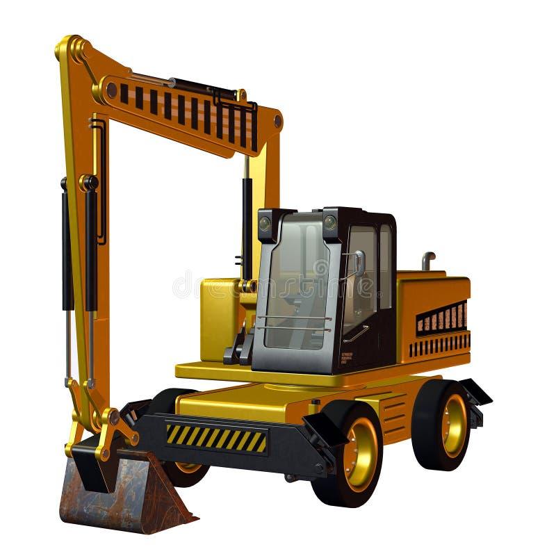 Veículo da construção da máquina escavadora ilustração do vetor