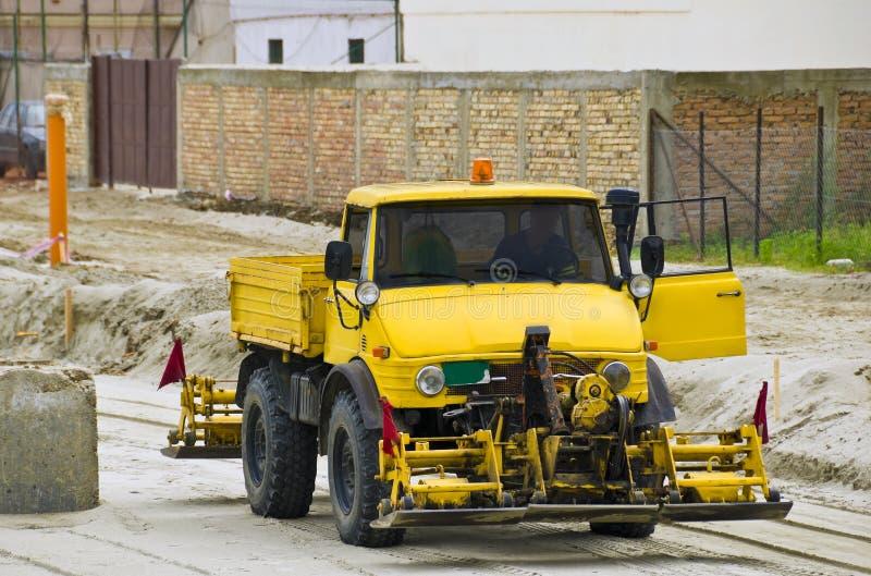 Veículo da construção de estradas fotografia de stock
