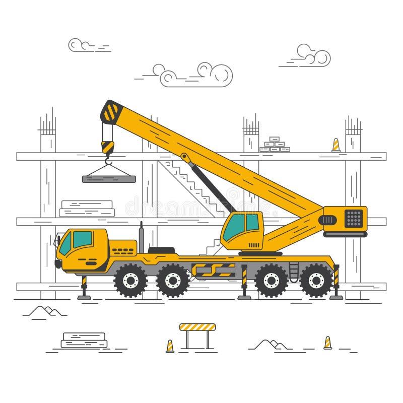 Veículo da construção e do levantamento ilustração royalty free
