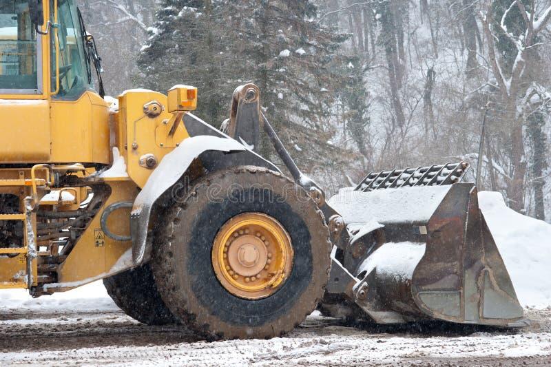 Veículo da remoção de neve imagens de stock