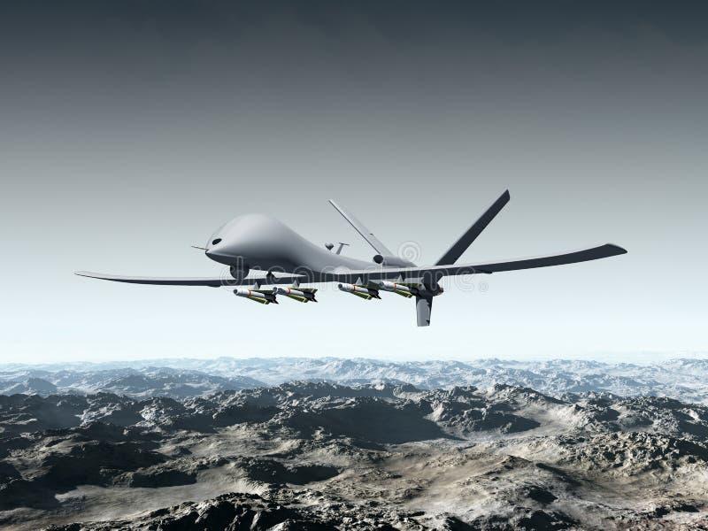 Veículo de ar 2não pilotado do combate ilustração do vetor