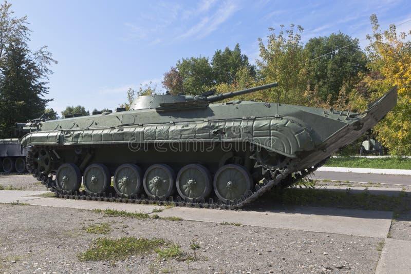 Veículo de combate a infantaria no Parque da Vitória da cidade de Vologda imagem de stock
