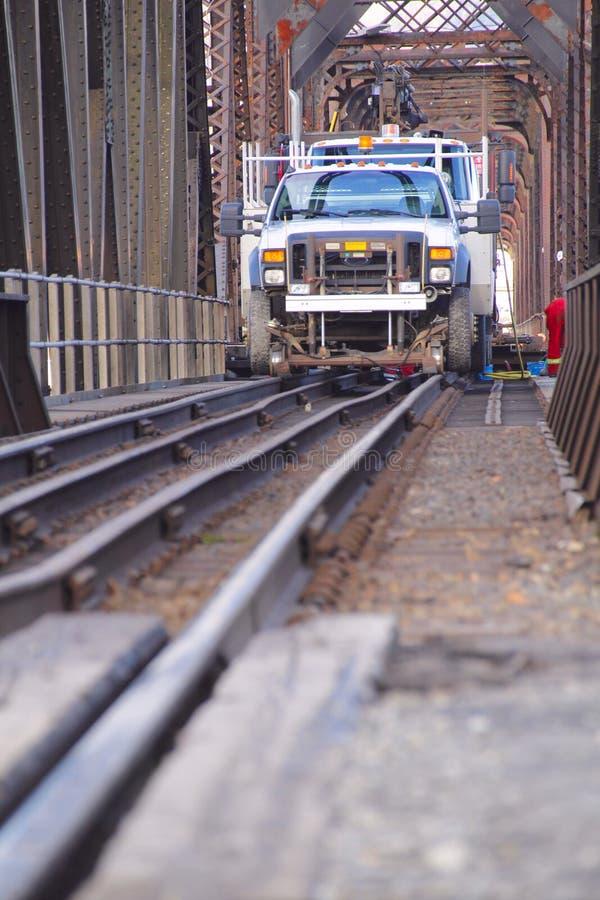 Veículo de manutenção do ferrovia imagens de stock