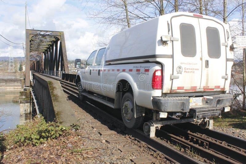 Veículo de manutenção Railway nacional canadense foto de stock royalty free