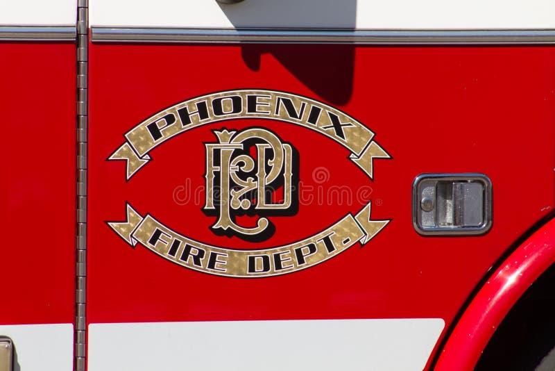Veículo do departamento dos bombeiros da cidade de Phoenix fotos de stock