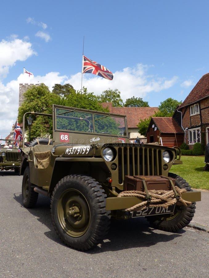 Veículo do jipe da segunda guerra mundial fotos de stock royalty free