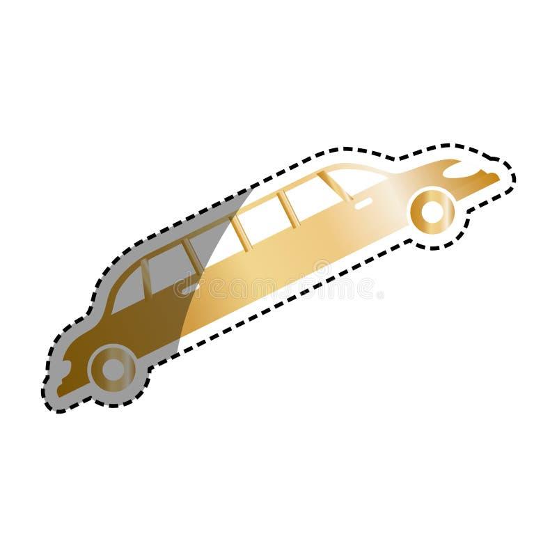 Veículo do luxo da limusina ilustração stock