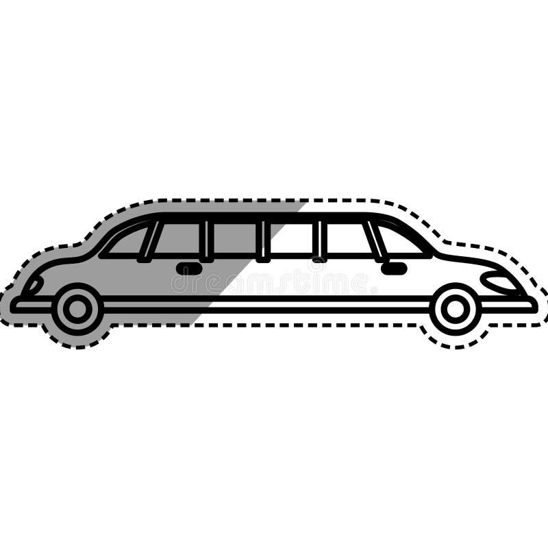 Veículo do luxo da limusina ilustração royalty free