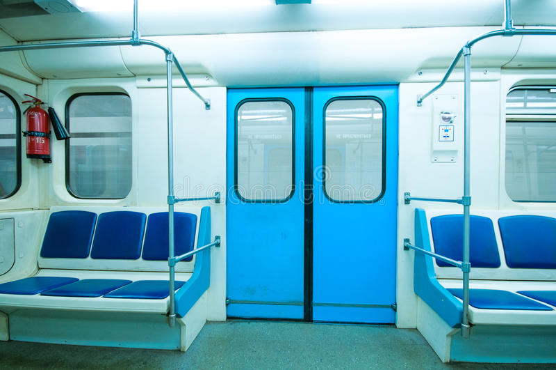 Veículo do metro imagens de stock royalty free