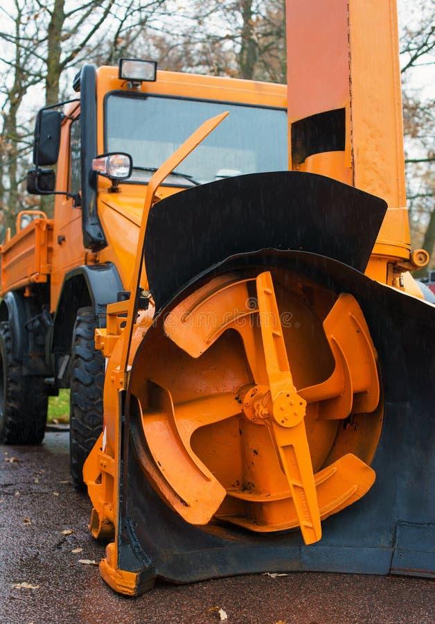 Veículo do serviço do inverno fotografia de stock royalty free
