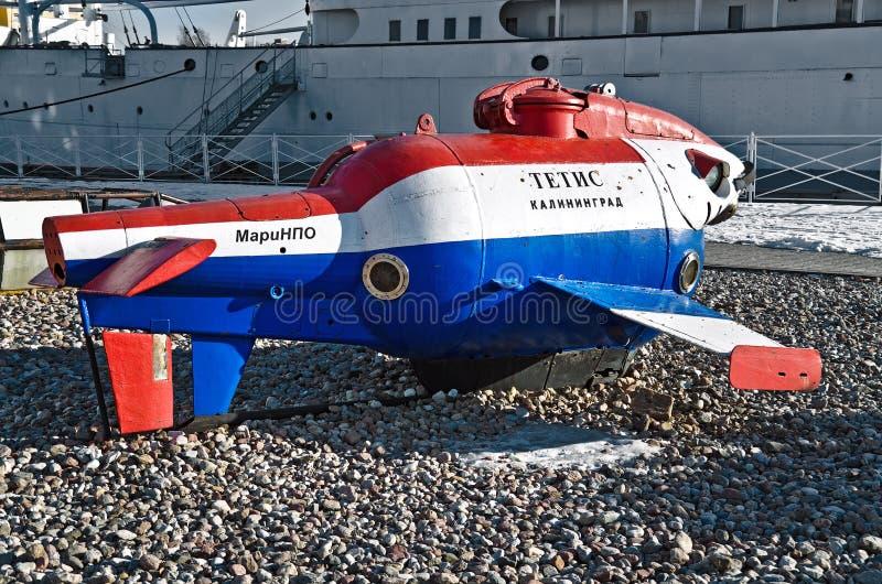 Veículo habitado Underwater Tetis. Kaliningrad, Rússia imagens de stock royalty free