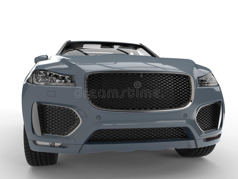 Veículo 4x4 moderno azul do cinza de cinza ilustração royalty free