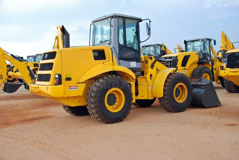 Veículos da construção da escavadora fotografia de stock