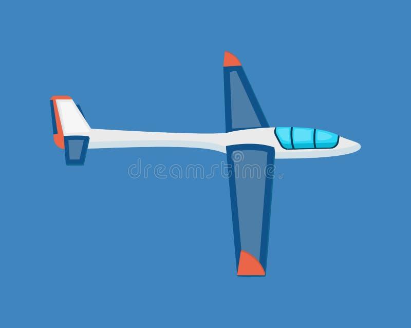 Veículos de ar Um planador moderno da terra que paira no ar ilustração stock