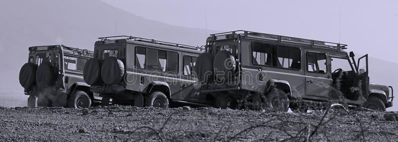 Veículos do safari fotografia de stock royalty free