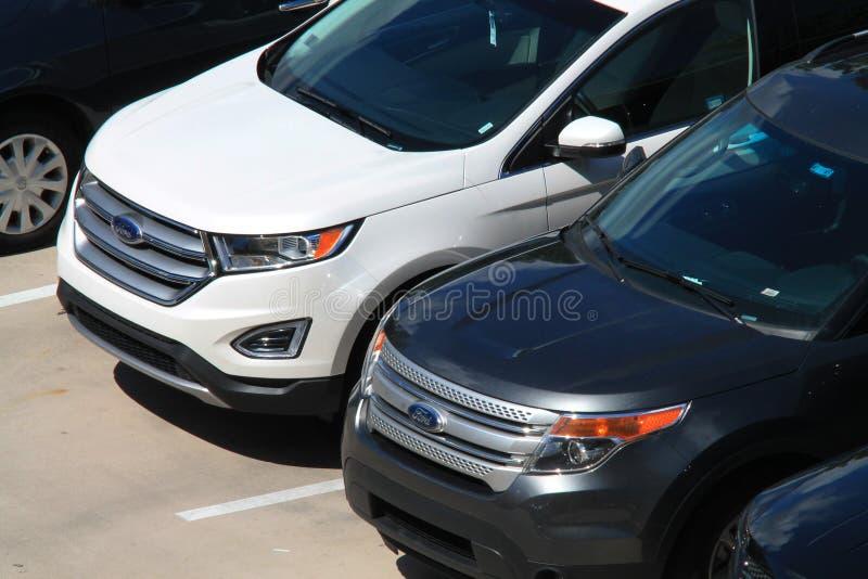 Veículos vistos de cima no recurso luxuoso de Key Biscayne imagens de stock