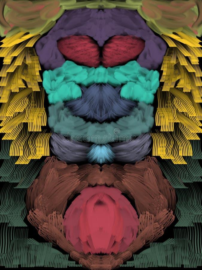 vea del top o de la parte inferior y enfoque en cada color ser? todo diferente libre illustration