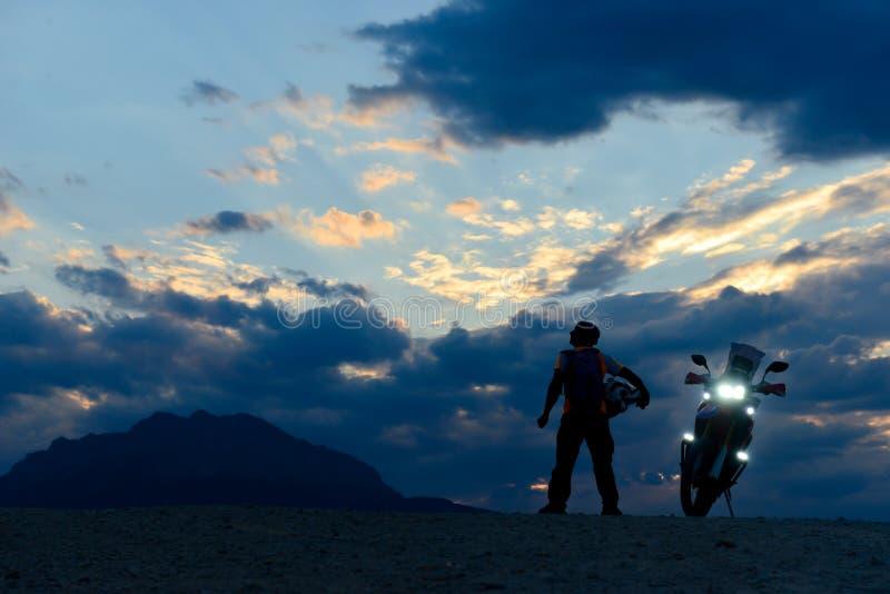 Vea diversos lugares en moto foto de archivo