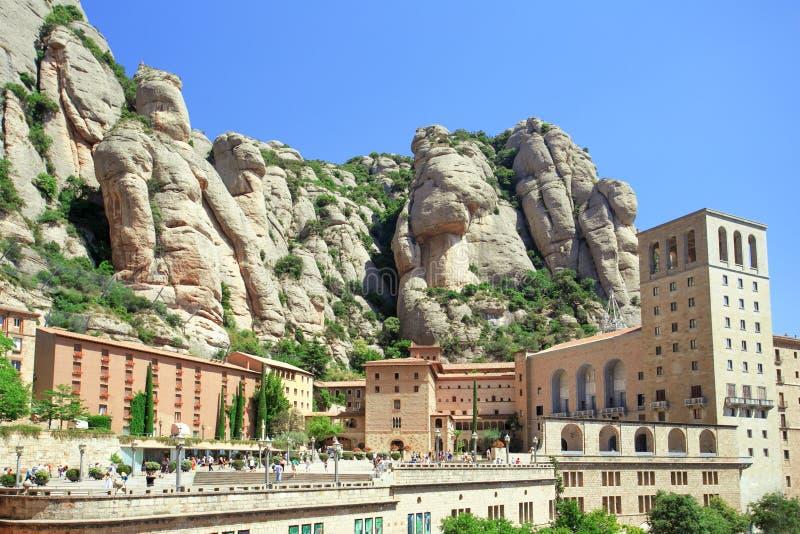 Vea el monasterio católico famoso de Montserrat fotos de archivo