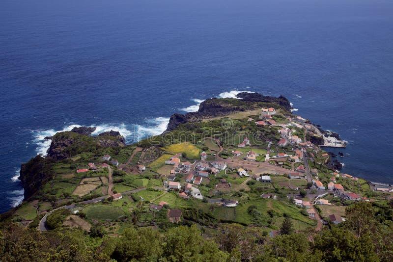 Vea sobre la isla de Azores del sao Jorge imagen de archivo libre de regalías