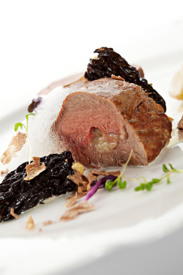 Veal Fillet Mignon. Stuffed with Artichoke stock images