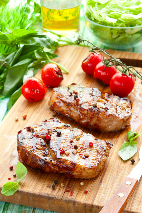 Veal loin steak royalty free stock photography