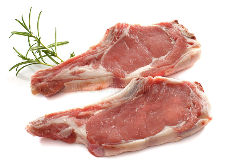 Veal meat chop stock photography