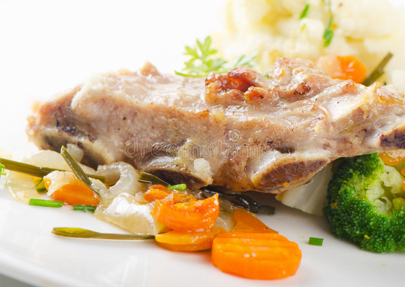 Veal ribs royalty free stock photo