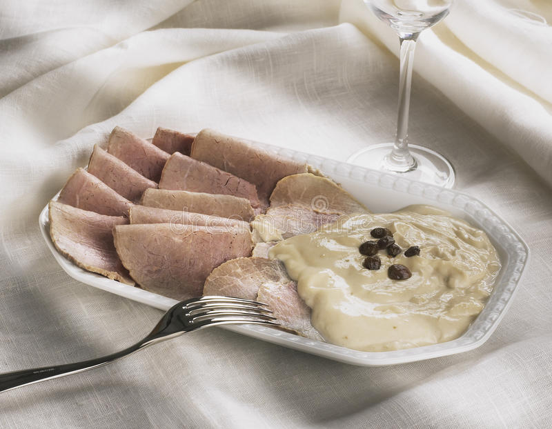 Download Veal with sauce stock photo. Image of meal, food, capers - 13341576