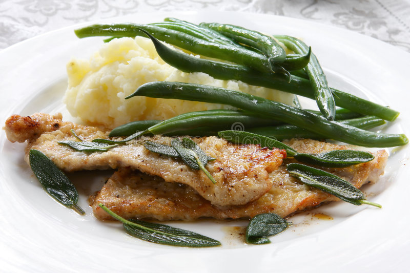 Veal Scaloppini Royalty Free Stock Images