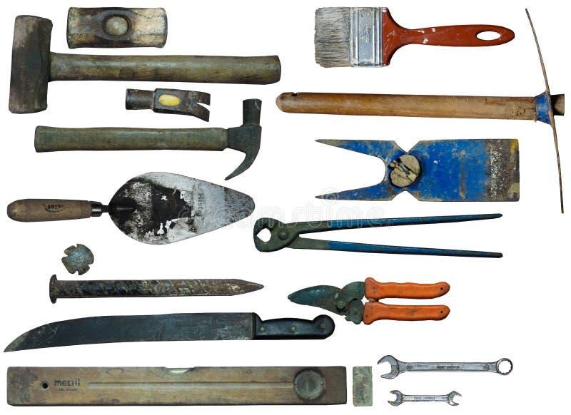 Vecchi accessori del ranch immagine stock
