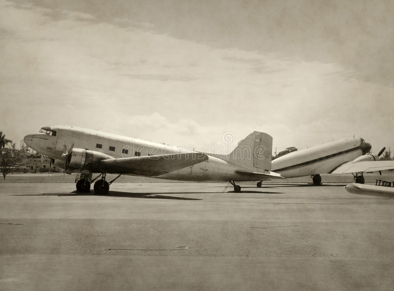 Vecchi aeroplani immagini stock libere da diritti