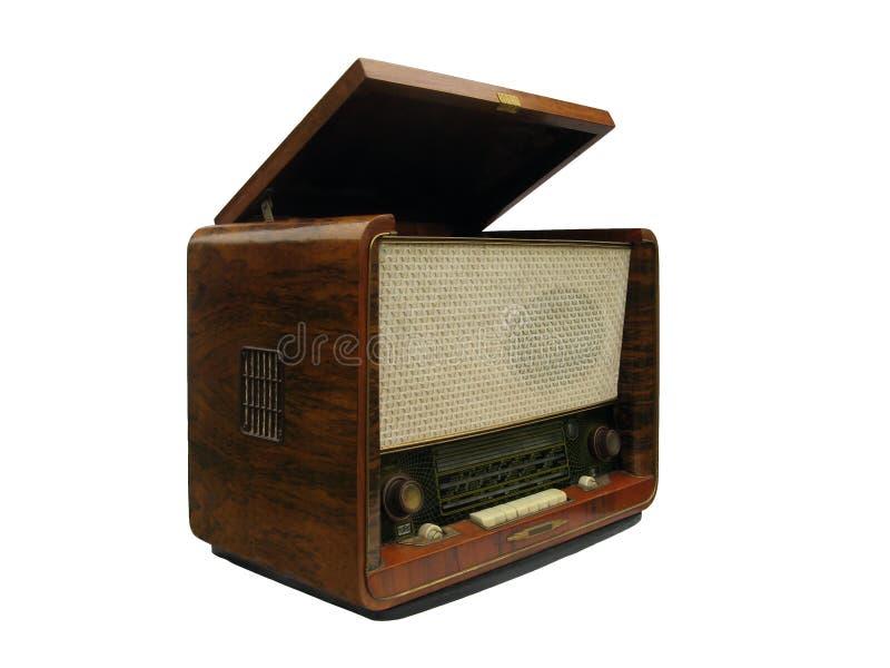 Vecchi apparecchio radioricevente e giradischi immagine stock libera da diritti
