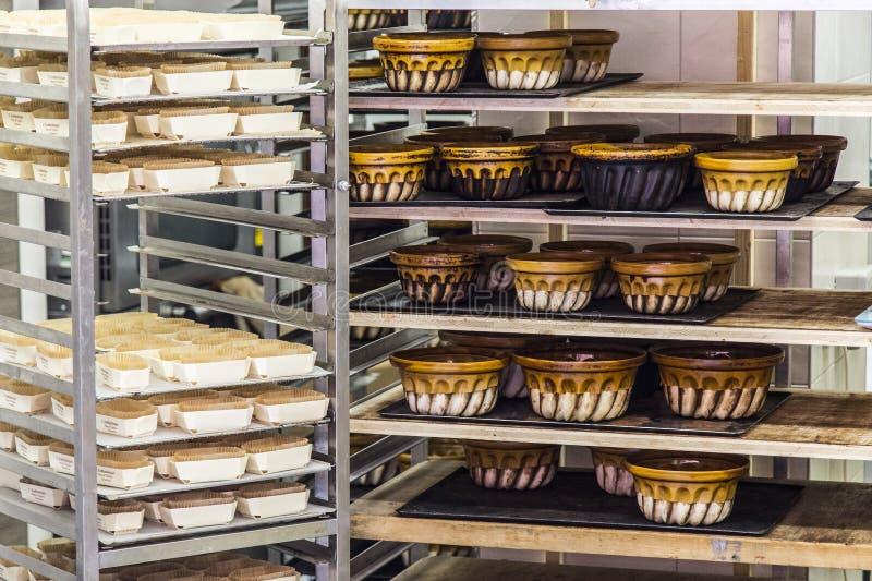 vecchi bakings tipici delle terraglie dall'Alsazia fotografia stock