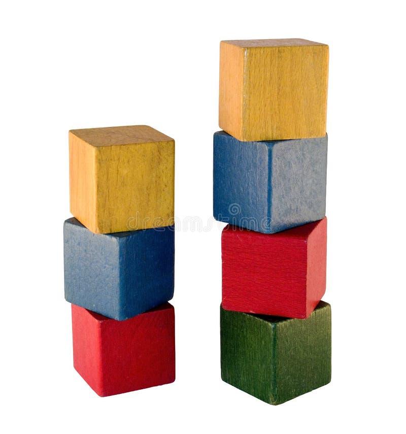 Vecchi blocchetti del gioco fotografie stock