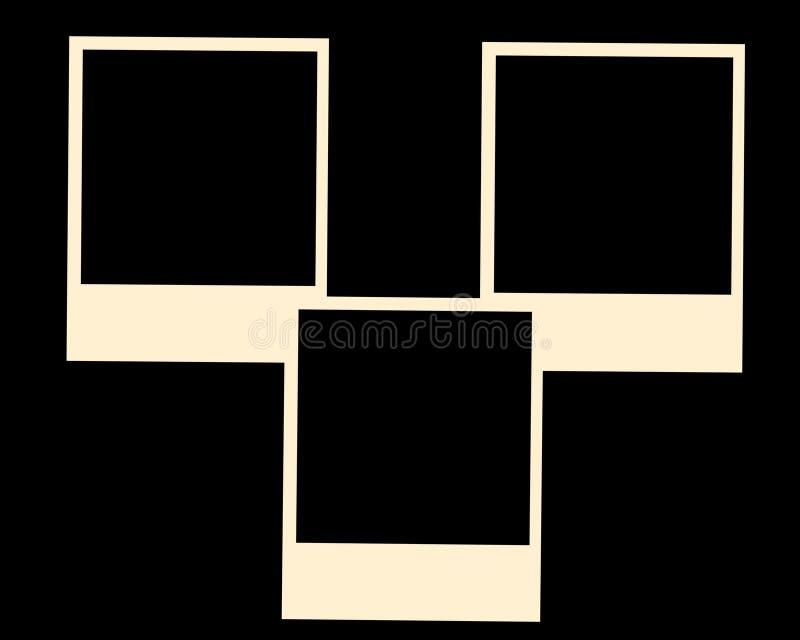 Vecchi blocchi per grafici della foto del polaroid immagine stock