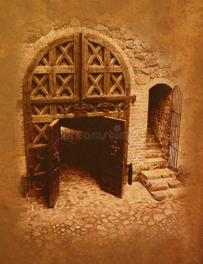 Vecchi cancelli del castello immagini stock libere da diritti