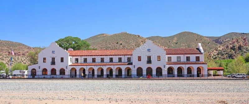 Vecchi deposito e museo della ferrovia fotografia stock