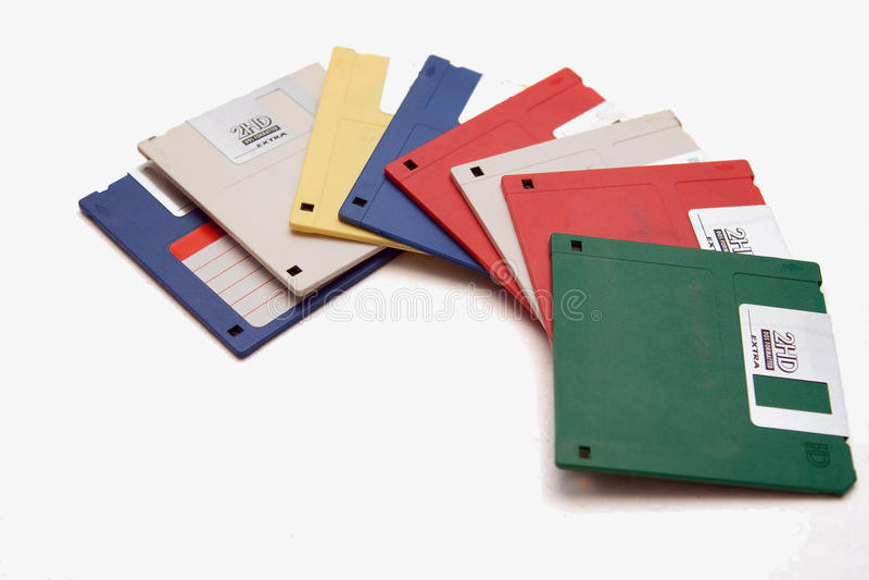 Vecchi dischi magnetici fotografia stock