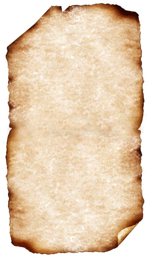 Vecchi documenti con i bordi bruciati immagini stock libere da diritti