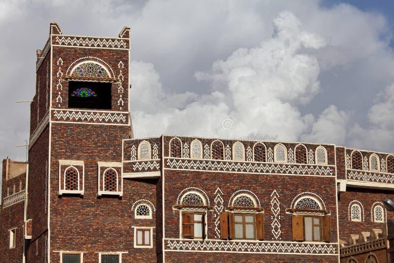 Vecchi edifici di Sanaa immagine stock