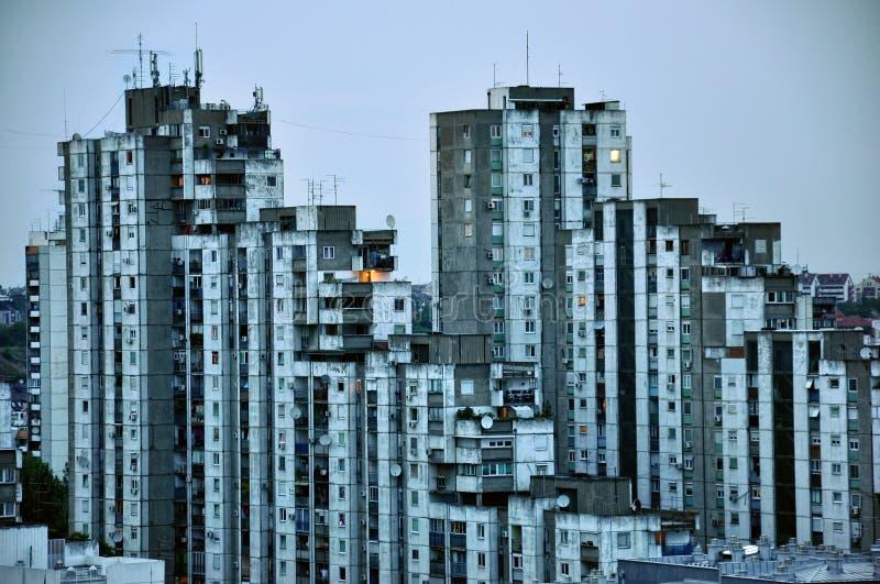 Vecchi grattacieli fotografie stock
