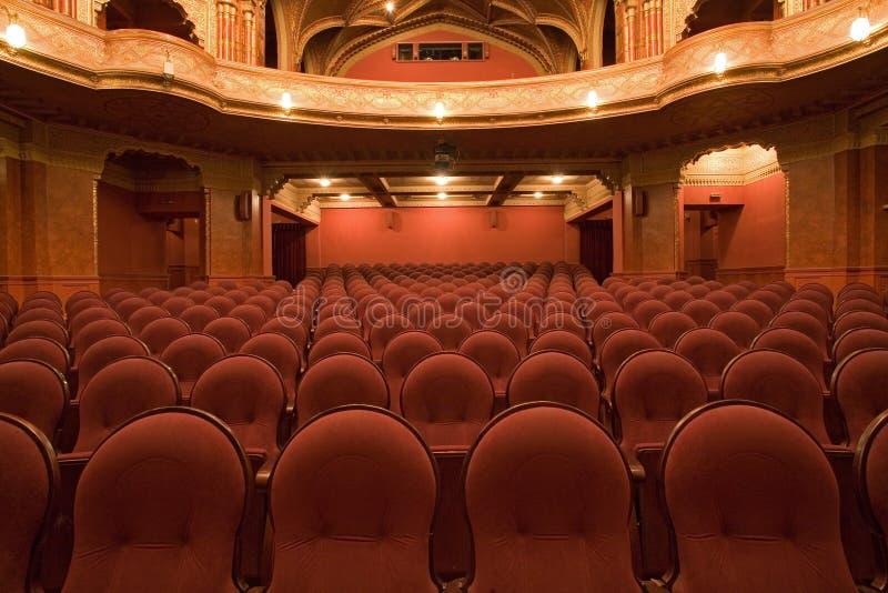 Vecchi interiori del cinematografo immagine stock libera da diritti