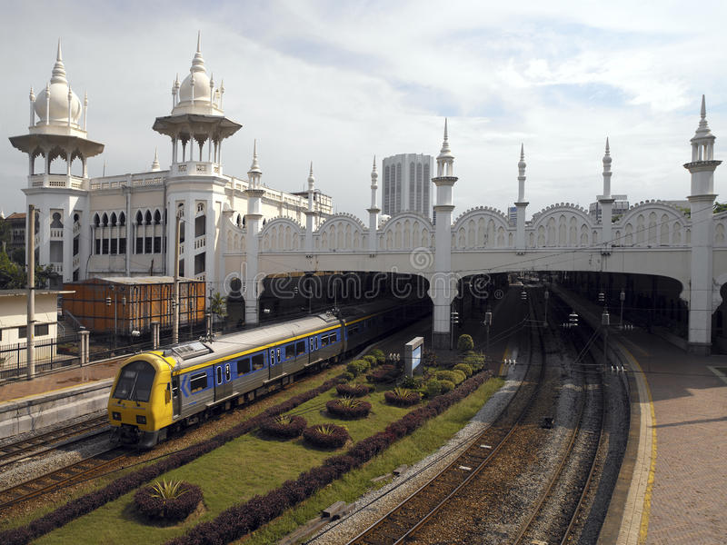 Vecchi Kuala Lumpur Railway Station - Malesia immagini stock libere da diritti